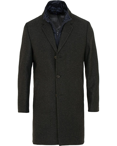 Tiger of Sweden Cemper Wool Herringbone Liner Coat Dark Grey i gruppen Tøj / Jakker / Frakker hos Care of Carl (15076811r)