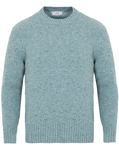 AMI Donegal Wool Ribbed Sweater Vert De Gris i gruppen Klær / Gensere / Strikkede gensere hos Care of Carl (15088611r)