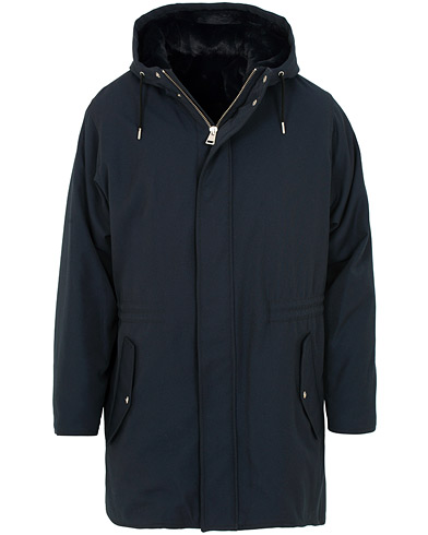 AMI Fleece Lined Parka Navy i gruppen Klær / Jakker / Parkas hos Care of Carl (15088911r)