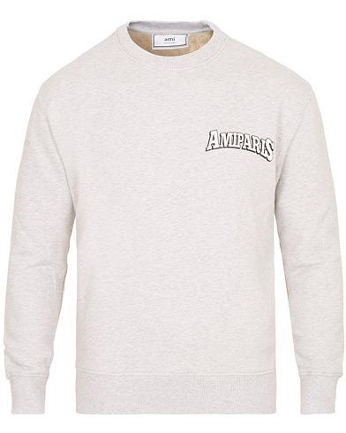 AMI Paris Logo Sweatshirt Heather Grey i gruppen Klær / Gensere / Sweatshirts hos Care of Carl (15089311r)