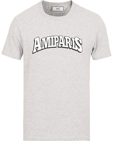 AMI Paris Logo T-shirts Heather Grey i gruppen Klær / T-Shirts / Kortermede t-shirts hos Care of Carl (15089711r)