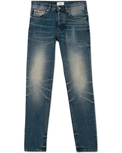 AMI Slim Fit Jeans Washed Blue i gruppen Klær / Jeans / Smale jeans hos Care of Carl (15090611r)