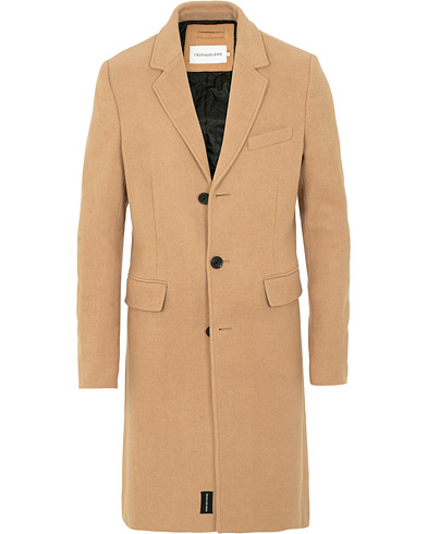Calvin Klein Wool Coat Beige i gruppen Kläder / Jackor / Rockar hos Care of Carl (15093911r)