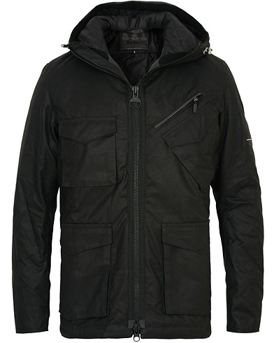 Barbour International Carbo Wax Jacket Black i gruppen Klær / Jakker / Voksede jakker hos Care of Carl (15099611r)