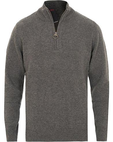Barbour Lifestyle Holden Half Zip Mid Grey Marl i gruppen Kläder / Tröjor / Zip-tröjor hos Care of Carl (15100611r)