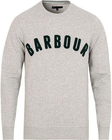 Barbour Lifestyle Prep Logo Crew Grey Marl i gruppen Klær / Gensere / Sweatshirts hos Care of Carl (15101511r)