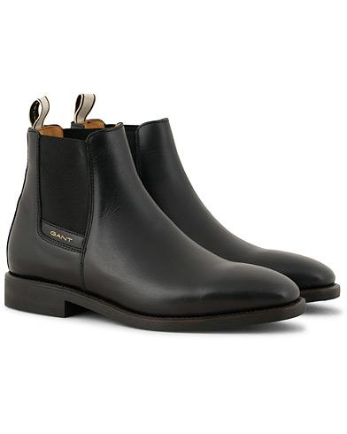 GANT James Chelsea Boot Black Calf i gruppen Sko / Støvler / Chelsea boots hos Care of Carl (15103511r)