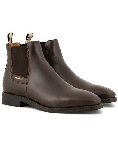 GANT James Chelsea Boot Dark Brown Calf i gruppen Skor / Kängor / Chelsea boots hos Care of Carl (15103711r)