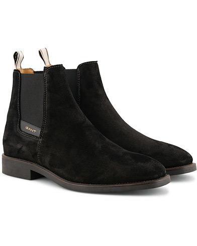 GANT James Chelsea Boot Black Suede i gruppen Skor / Kängor / Chelsea boots hos Care of Carl (15103811r)