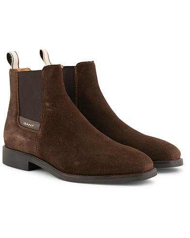 GANT James Chelsea Boot Dark Brown Suede i gruppen Sko / Støvler / Chelsea boots hos Care of Carl (15103911r)