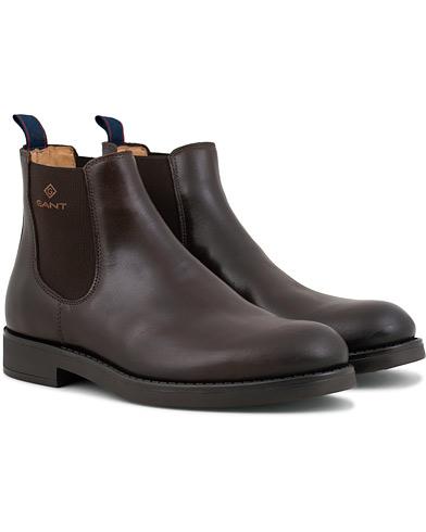 GANT Oscar Chelsea Boot Dark Brown Calf i gruppen Sko / Støvler / Chelsea boots hos Care of Carl (15104111r)