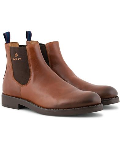 GANT Oscar Chelsea Boot Cognac Calf i gruppen Sko / Støvler / Chelsea boots hos Care of Carl (15104211r)