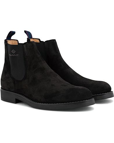 GANT Oscar Chelsea Boot Black Suede i gruppen Skor / Kängor / Chelsea boots hos Care of Carl (15104311r)