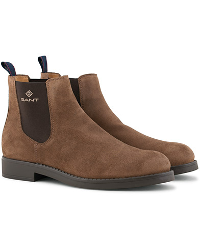 GANT Oscar Chelsea Boot Matt Brown Suede i gruppen Sko / Støvler / Chelsea boots hos Care of Carl (15104511r)