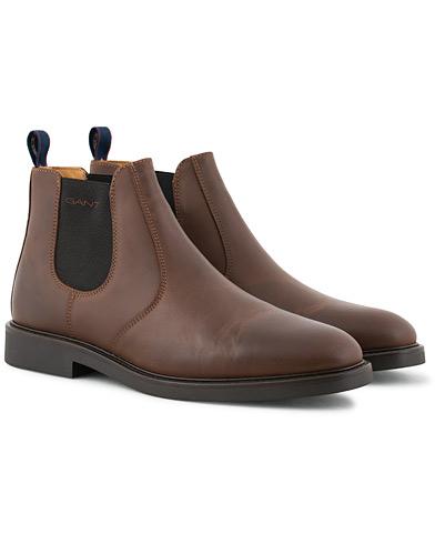 GANT Spencer Chelsea Boot Dark Brown Calf i gruppen Skor / Kängor / Chelsea boots hos Care of Carl (15104711r)