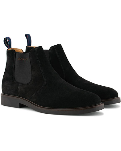 GANT Spencer Chelsea Boot Black Suede i gruppen Skor / Kängor / Chelsea boots hos Care of Carl (15104911r)