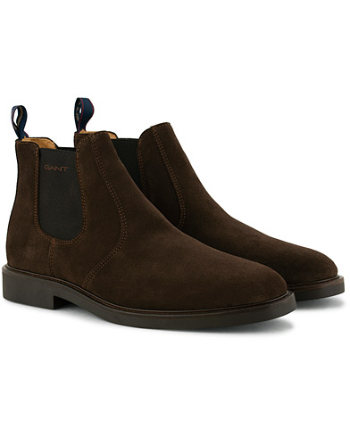 GANT Spencer Chelsea Boot Dark Brown Suede i gruppen Sko / Støvler / Chelsea boots hos Care of Carl (15105011r)