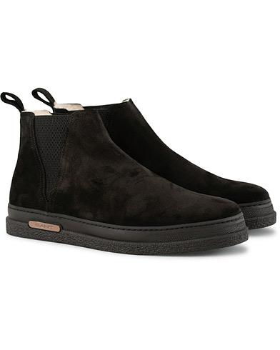 GANT Josef Chelsea Boot Black Suede i gruppen Skor / Kängor / Chelsea boots hos Care of Carl (15105611r)