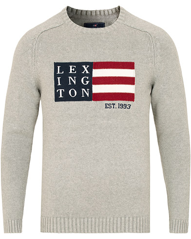 Lexington Dylan Sweater Heather Grey Melange i gruppen Klær / Gensere / Strikkede gensere hos Care of Carl (15110711r)