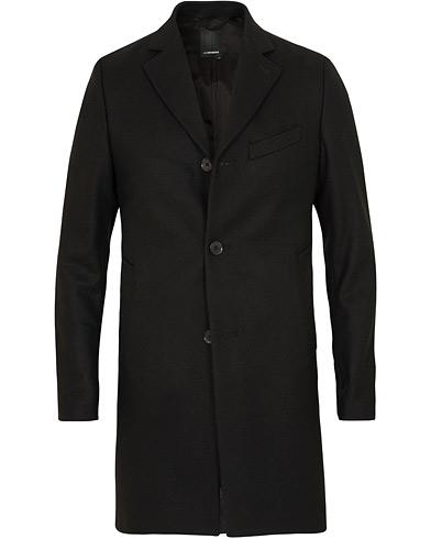 J.Lindeberg Wolger Compact Melton Coat Black i gruppen Klær / Jakker / Frakker hos Care of Carl (15118311r)