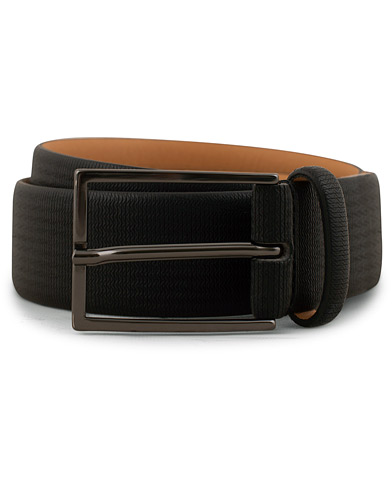 Oscar Jacobson Leather Belt Black i gruppen Tilbehør / Bælter / Glatte bælter hos Care of Carl (15125911r)