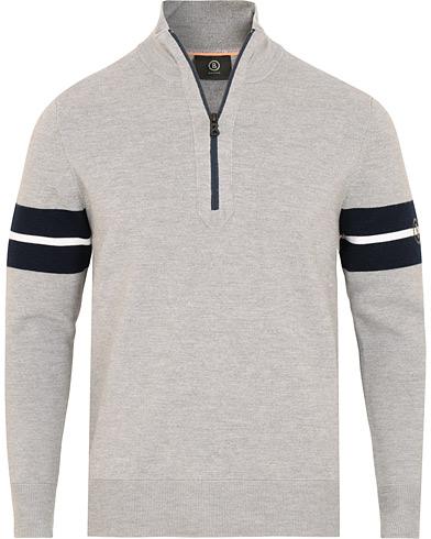 Bogner Gustaf Merino Half Zip Grey i gruppen Kläder / Tröjor / Zip-tröjor hos Care of Carl (15133111r)