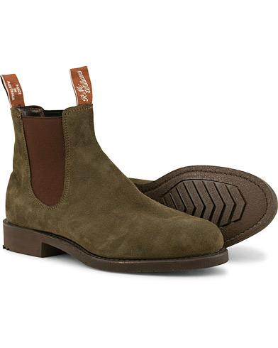 R.M.Williams Gardener G Boot Khaki Suede i gruppen Sko / Støvler / Chelsea boots hos Care of Carl (15141111r)