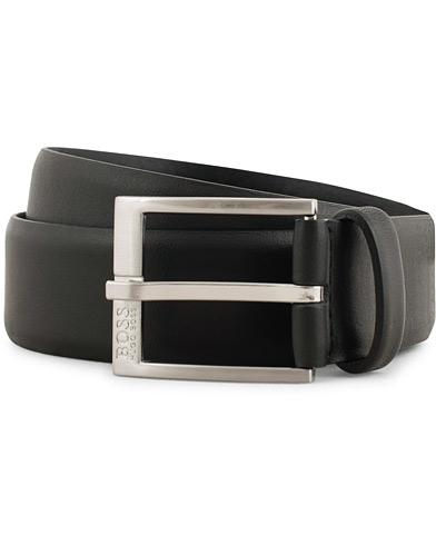 BOSS Erron Leather 3,5cm Belt Black i gruppen Tilbehør / Bælter / Glatte bælter hos Care of Carl (15145911r)