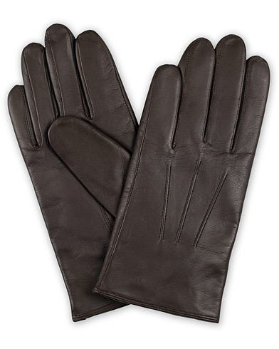 BOSS Hainz Leather Gloves Dark Brown i gruppen Assesoarer / Hansker hos Care of Carl (15146611r)