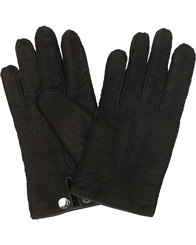 BOSS T-Helven Suede Gloves Black i gruppen Tilbehør / Handsker hos Care of Carl (15146711r)