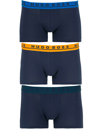 BOSS 3-Pack Trunk Navy with Coloured Waistband i gruppen Tøj / Undertøj / Boxershorts hos Care of Carl (15147011r)