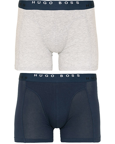 BOSS 2-Pack Boxer Briefs Grey/Navy i gruppen Klær / Undertøy / Underbukser hos Care of Carl (15147111r)