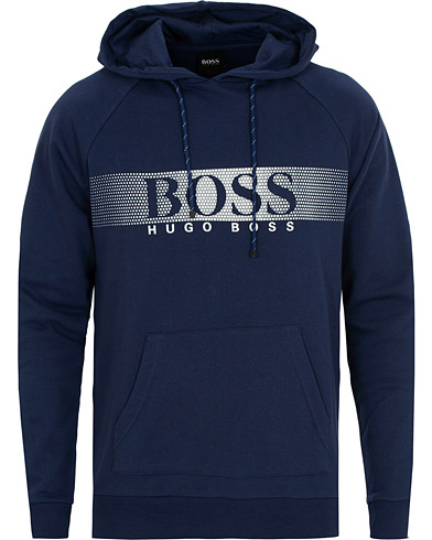 BOSS Logo Hoodie Blue i gruppen Klær / Gensere / Hettegensere hos Care of Carl (15148111r)