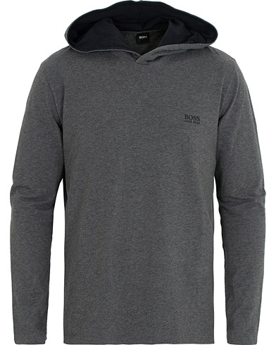BOSS Logo Hoodie Medium Grey i gruppen Kläder / Tröjor / Huvtröjor hos Care of Carl (15148311r)