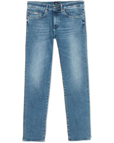 BOSS Delaware Candiani Stretch Jeans Light Blue i gruppen Klær / Jeans / Smale jeans hos Care of Carl (15149411r)