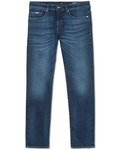 BOSS Delaware Candiani Stretch Jeans Mid Blue i gruppen Klær / Jeans / Smale jeans hos Care of Carl (15149511r)