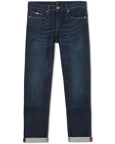 BOSS Delaware Candiani Stretch Jeans Dark Blue i gruppen Klær / Jeans / Smale jeans hos Care of Carl (15149611r)