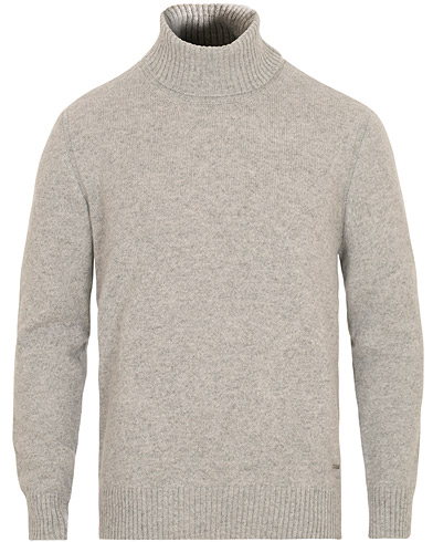 BOSS T.Ercole Wool/Alpaca Rollneck Light Grey Melange i gruppen Kläder / Tröjor / Polotröjor hos Care of Carl (15150611r)