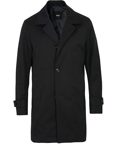 BOSS Dais Water Repellent Carcoat Navy i gruppen Kläder / Jackor / Rockar hos Care of Carl (15151011r)