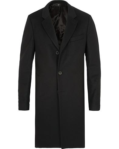 BOSS Nye Wool/Cashmere Coat Black i gruppen Klær / Jakker / Frakker hos Care of Carl (15152411r)