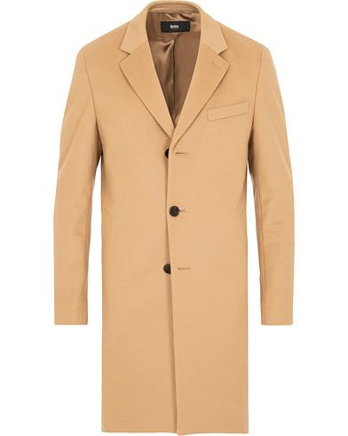 BOSS Nye Wool/Cashmere Coat Medium Beige i gruppen Klær / Jakker / Frakker hos Care of Carl (15152511r)
