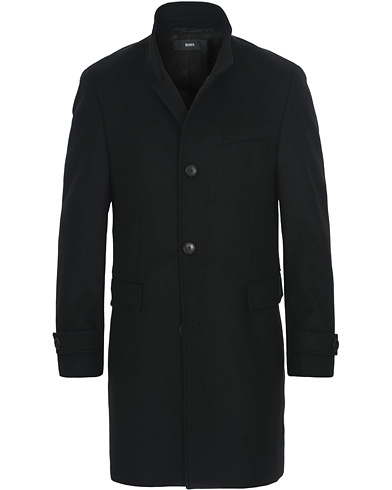 BOSS Sintrax Wool/Cashmere Coat Black i gruppen Tøj / Jakker / Frakker hos Care of Carl (15152611r)