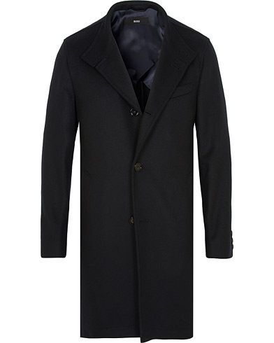 BOSS Shanty Wool/Cashmere Coat Dark Blue i gruppen Tøj / Jakker / Frakker hos Care of Carl (15152711r)