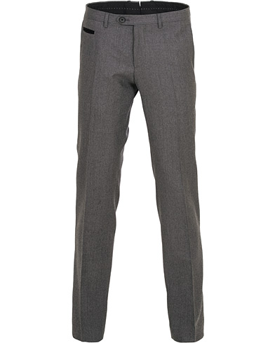 BOSS Wilhelm Wool Trousers Open Grey i gruppen Kläder / Byxor / Flanellbyxor hos Care of Carl (15153111r)