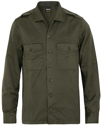 BOSS Casual Lovel Shirt Jacket Dark Green i gruppen Klær / Skjorter / Casual / Overshirts hos Care of Carl (15154311r)