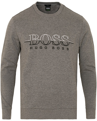 BOSS Athleisure Salbo Crew Neck Sweatshirt Mid Melange i gruppen Kläder / Tröjor / Sweatshirts hos Care of Carl (15156111r)
