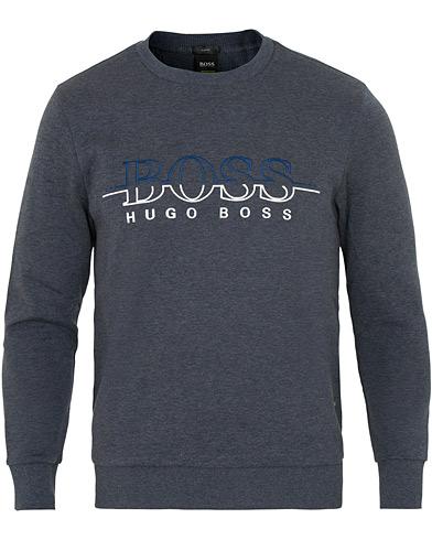 BOSS Athleisure Salbo Crew Neck Sweatshirt Night Watch Melange i gruppen Kläder / Tröjor / Sweatshirts hos Care of Carl (15156211r)