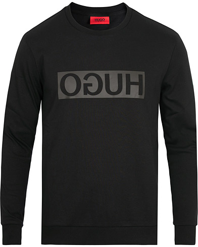 HUGO Dicago Crew Neck Sweatshirt Black i gruppen Tøj / Trøjer / Sweatshirts hos Care of Carl (15160211r)
