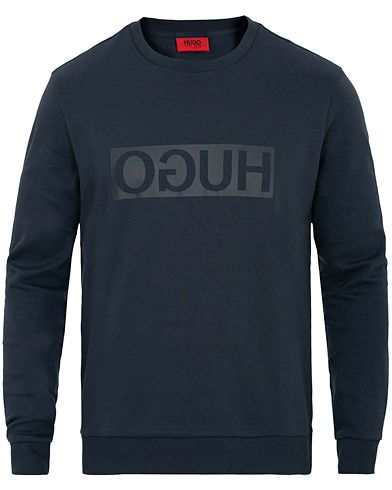 HUGO Dicago Crew Neck Sweatshirt Navy i gruppen Kläder / Tröjor / Sweatshirts hos Care of Carl (15160311r)