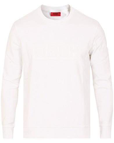 HUGO Dicago Crew Neck Sweatshirt White i gruppen Kläder / Tröjor / Sweatshirts hos Care of Carl (15160411r)